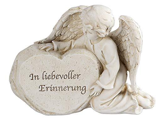 Klp Grabschmuck Grabstein Engel am Stein Gedenkstein Spruch Grabdeko Grab Deko Figur