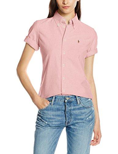 Polo Ralph Lauren Damen Hemd Jenny SS Shirt, Rosa (BSR Pink AA254), 36 (Herstellergröße: S)