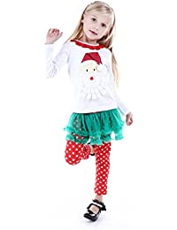Bebone Bébé Fille Coton Noël Cotton Ensemble Père Noël Veste + Point Pantalon
