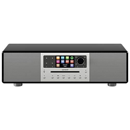 sonoro Meisterstück Kompaktanlage (FM/DAB/DAB+/WLAN, CD, AUX-in, aptX Bluetooth, Spotify) Schwarz - Digital Internet-Radio