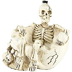ZXPzZ Resina cenicero cráneo regalo decoración del hogar resina cráneo