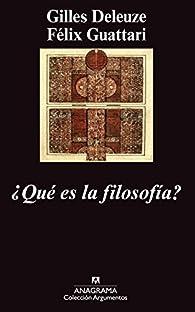 ¿Qué es la filosofía? par Félix Guattari