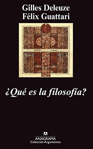 ¿Qué es la filosofía? (Argumentos) por Félix Guattari