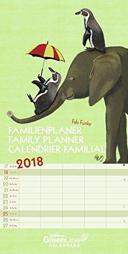 Preisvergleich Produktbild Fab Funky 2018 - Terminkalender, Wandkalender, Familienplaner - 23 x 45,5 cm