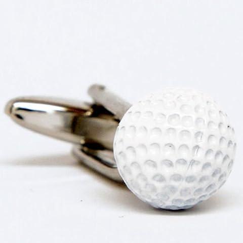 Bracciale pallina da golf serie di pulsanti di smalto bianco - Serie Smalto