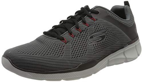 Skechers equalizer 3.0, scarpe sportive indoor uomo, grigio (charcoal/black ccbk), 48.5 eu
