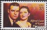 Prophila Collection USA 3093 (kompl.Ausg.) 1999 A.Lunt & L.Fontanne (Briefmarken für Sammler)
