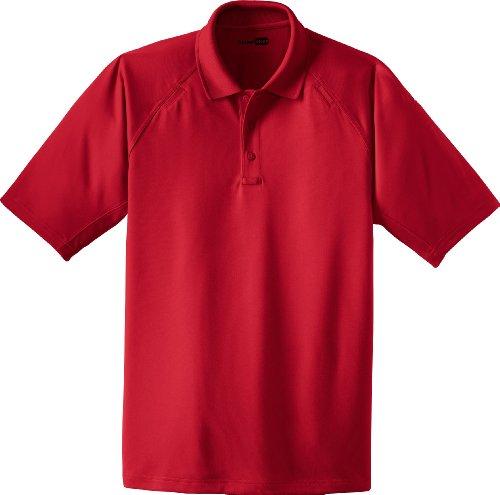 Cornerstone Herren Button-down Poloshirt Rot Rot Rot - Rot