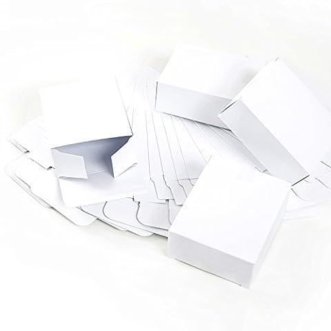 24 kleine weiße mini Geschenkschachteln (10 x 4 x 8 cm) - Geschenkboxen Weihnachtsverpackung für Weihnachtsgeschenke, Schachteln zum Adventskalender basteln als Verpackung Gastgeschenke