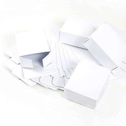 24 kleine weiße mini Geschenkschachteln 10 x 4 x 8 cm - Geschenkboxen Weihnachtsverpackung für Weihnachtsgeschenke, Schachteln zum Adventskalender basteln als Verpackung Gastgeschenke