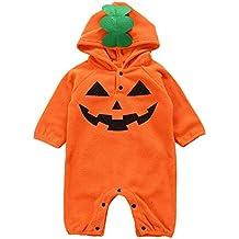 POLP Niño-Halloween Bebe Invierno Disfraz Halloween Bebe Calabaza Disfraces de Disfraces de Halloween para