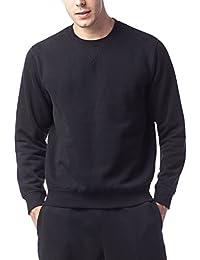 LAPASA Sweat Shirt Homme Pull Doublure en Laine Polaire Molleton sans Capuche - Noir Gris Chaud et Respirant M21