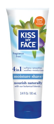 Kiss My Face Fragrance Free Moisture Shave (Paraben Free, Vegan, 100ml)