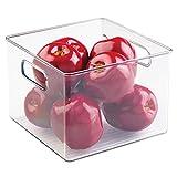InterDesign Cabinet/Kitchen Binz Aufbewahrungsbox, großer Küchen Organizer aus Kunststoff, durchsichtig