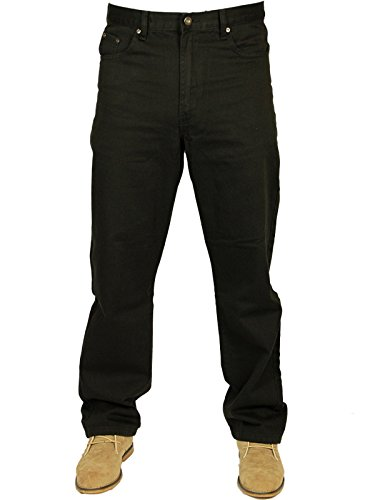 NEW MENS BLUE CIRCLE BLUE WORK JEANS REGULAR FIT IN 3 COLOURS BLACK, LIGHTWASH & STONEWASH SIZES 28
