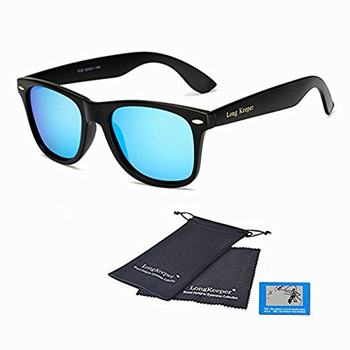 f092cdfca5 LongKeeper Polarized Sunglasses Classic Vintage Square Sun Glasses for ...
