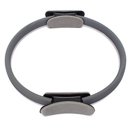 Pilates Ring - SODIAL(R) Pilates Ring Kreis Widerstand uebungsn Trainings Fitness GYM Yoga Ring Dual-Band grau