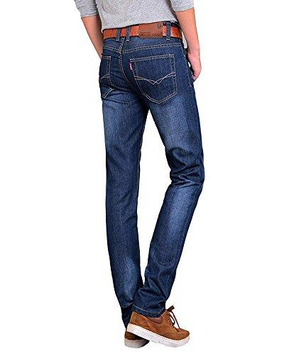 Herren Jeans Hose Basic Stretch Jeanshose Regular Slim Hellblau 2