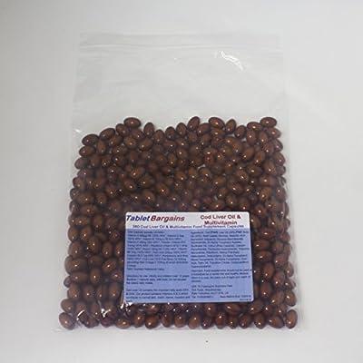 Tablet Bargains - Cod Liver Oil 550mg & Multivitamin - 360 Capsules by Club Vits Ltd