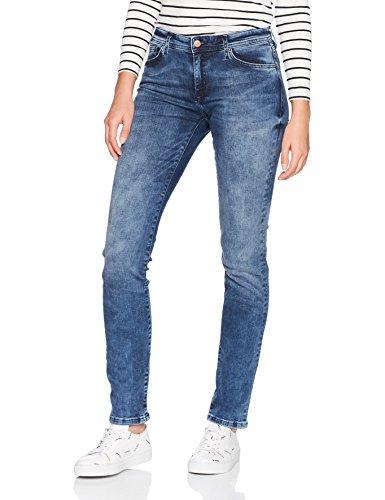 Cross Jeans Damen Slim Jeans Anya, Blau (Dark Mid Blue 119), W34/L30