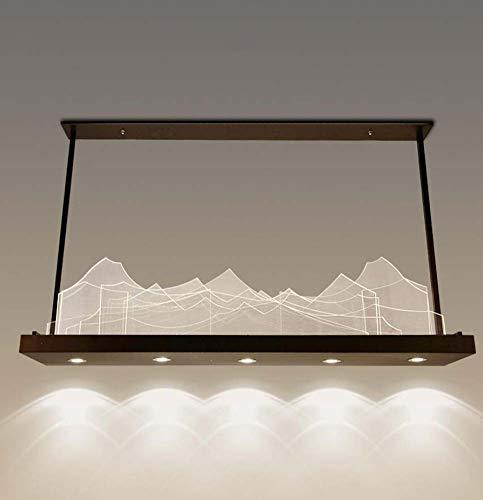 Luci del pendente del paesaggio del led, lampada di pendente creativa della camera da letto del soggiorno, plafoniere del pendente del pendente postmodern nordico, illuminazione decorativa di ingegner
