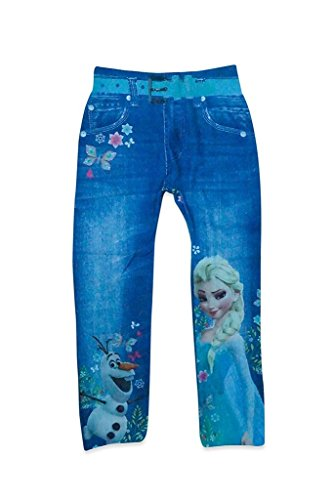 Krystle Girls Disney BLUE Skinny Printed Denim Jegging Leggings Pants