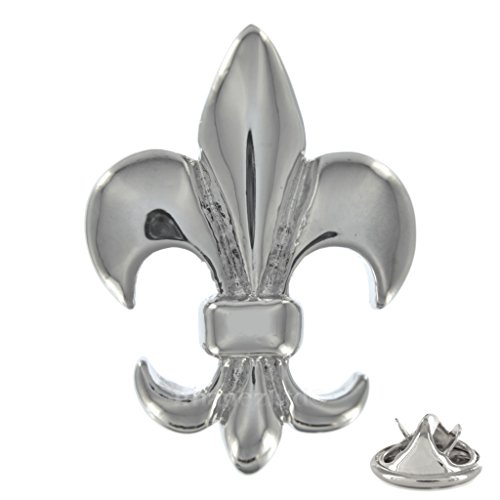 Fleur de Lis Metall Button Badge Pin Pins Anstecker