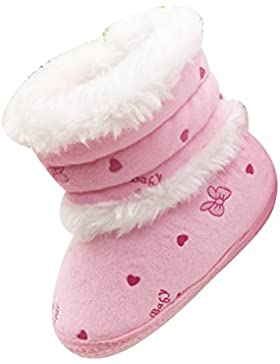 Zhuhaitf Excelente Baby Girl Crib Shoes Soft Bottom Snow Booties Newborn Anti-skid Boots