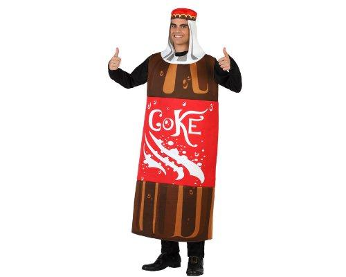 Atosa 23000 - Flasche Coke Kostüm, Größe M-L, (Flasche Cocacola Kostüme)