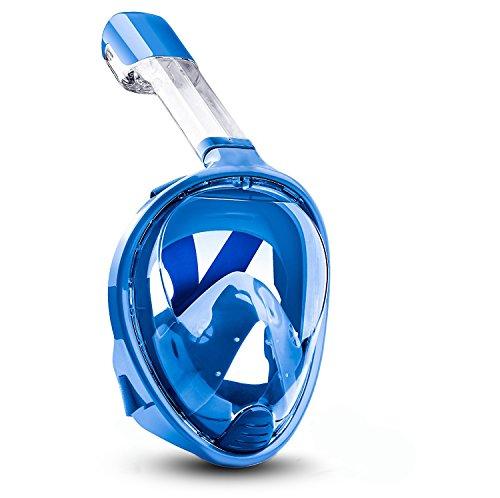 Schnorcheln Maske, vemupohal 180 Grad Panorama Schnorchel Maske einfach frei atmen Tauchen Maske mit Anti-Fog und Anti-Auslauf-Technologie, Unterwasser Schnorcheln Maske für Erwachsene und Kinder