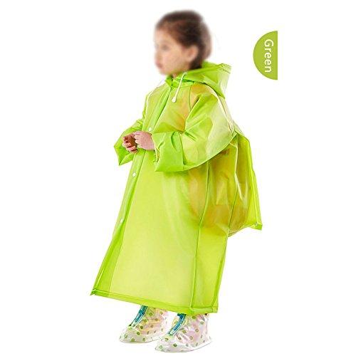 Unisex Kinder Schultasche Regenmantel, tragbar wiederverwendbar EVA Regenmäntel für 6–12Jahren