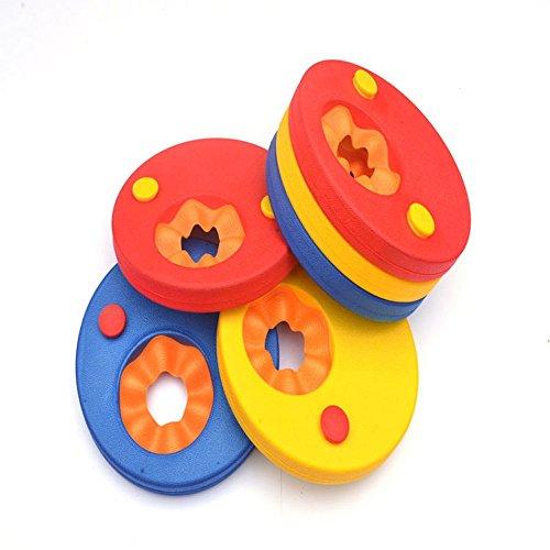 MMTop Schwimmscheiben mit Armbinden aus EVA-Schaum, Schwimmkörper für Babys und Kinder, Schwimmkurs-Schaumschwimmkörper, 6 Stück