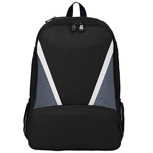 Augusta Sportswear Dugout Baseball Bat Backpack Os Black/Graphite/White (Baseball Dugout)