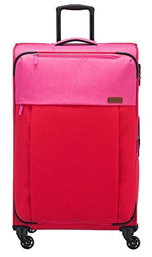 Travelite Leichtes, flexibles und lässiges Weichgepäck – Trolley, Rucksäcke, Reisetaschen im Surferlook Koffer 55 cm, 32 L, Rot/Pink