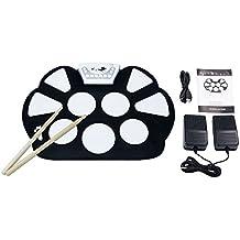 V.TOP Portabile Rotolo Elettronica Drum Pad Kit del Silicone Pieghevole con il Bastone