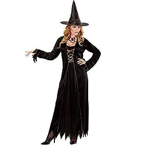 WIDMANN Disfraz de Bruja para Adulto, Vestido con Sombrero de Bruja
