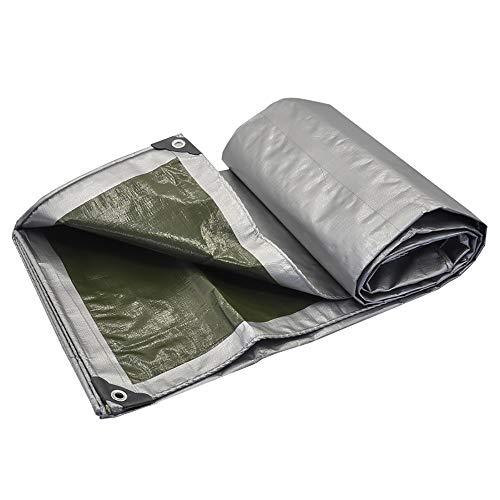 YINUO Bâche rembourrée, toile plastique, huile de protection contre l'isolation de protection solaire de bâche de protection étanche de bâche de protection imperméable gris (180g / mètre carré, épaiss