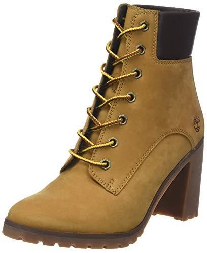 Timberland allington 6 inch lace-up, stivali donna, giallo (wheat 231), 40 eu
