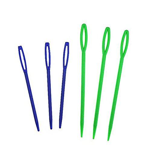 LUFA-6pcs-Gros-oeil-plastique-aiguilles-tissage-couture-tricot-aiguilles-color