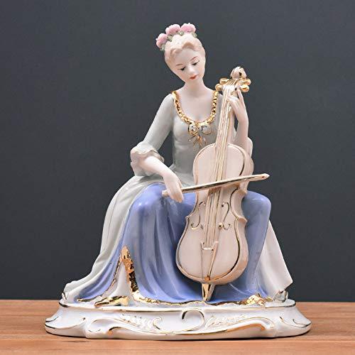 GGsmd Europäische Keramik-möbel Moderne Moderne Wohndekorationsprodukte Court Western Women Es Wohnzimmer Tv-Schrank Dekoration Cello Vase Ddkoration Kunsthandwerk