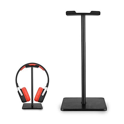 elementdigital Headpone Ständer Headset Halter Kopfhörer Ständer Halterung Kleiderbügel mit Aluminium unterstützen Bar Flexible Kopfstütze ABS Solide Basis für Gaming Headset Kopfhörer schwarz - Gebaut In Den Warenkorb