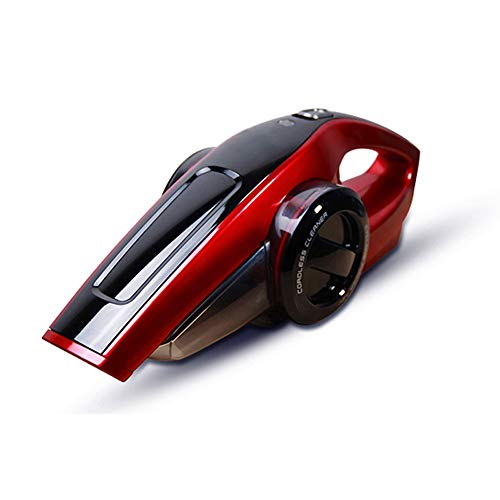 Lctxcq aspirapolvere senza polvere aspirapolvere portatile, ricaricabile, batteria al litio da 120 w, compatta e leggera, adatta per la pulizia di casa e auto (colore : red)