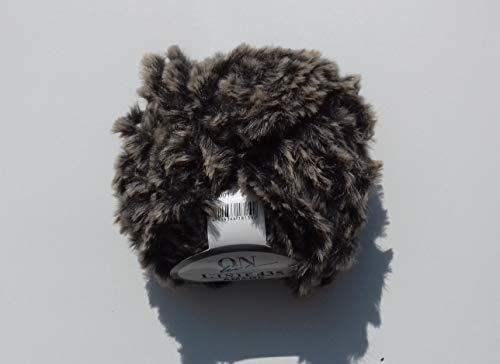 Online Amare Wolle Linie 435 Felloptikgarn Farbe 001 Dunkelbraun