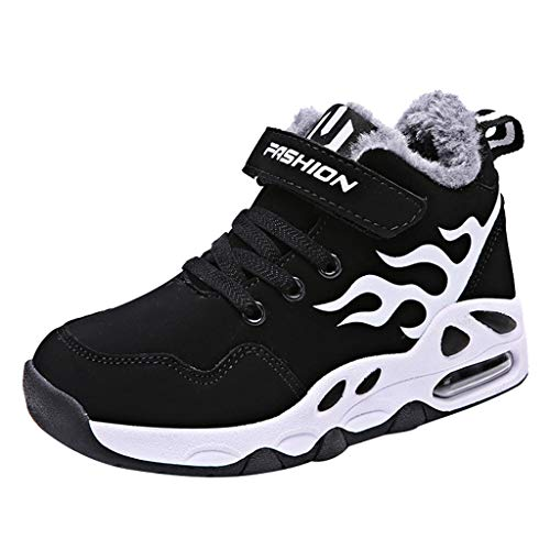 squarex ® Fashion Boy und Girls Plus Velvet Bequeme Schuhe Basketballschuhe Sportschuhe Laufschuhe Atmungsaktive Turnschuhe
