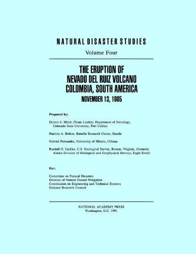 The Eruption of Nevado Del Ruiz Volcano Colombia, South America, November 13, 1985 (Natural Disaster Studies; Vol. 4) by Division of Natural Hazard Mitigation (1991-01-01) par Division of Natural Hazard Mitigation; Committee on Natural Disasters; National Research Council; Division on Engineering and Physical Sciences; Commission on Engineering and Technical Systems