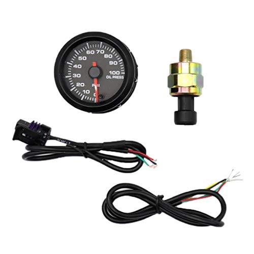 Sharplace Manometro Pressione Olio 0-100psi 2'Con Sensore per Auto Da Cors