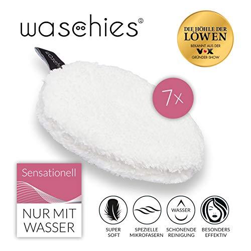 waschies Abschminkpads waschbar | Wiederverwendbare Abschminktücher, Kosmetikpads zur Make-Up Entfernung | Umweltfreundlich, Nachhaltig [Mikrofaser, 7er Set]