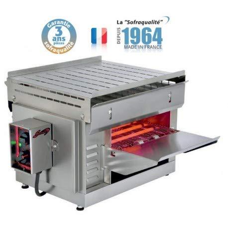 Toaster Convoyeur à quartz - Ruban 330 mm - 2,65 kW - Sofraca -