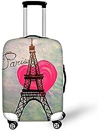 CHAQLIN Fashion Eiffel Tower - Funda para Maletas de Equipaje (45,72 cm, 50,8 cm, 55,88 cm, 60,96 cm, 66,04 cm, 71,12 cm)