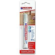 Edding 950/1-49 - Blíster con 1 marcador de pasta opaca permanente, grosor de trazo de 10 mm, color blanco